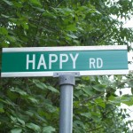 happiness on a street